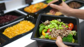 Healthy Food Fresh Vegetable Salad In Salad Bar