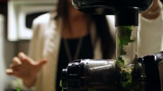 Healthy Lifestyle Woman Preparing Green Juice