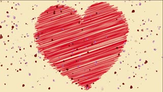 Heart And Rose Petals Background