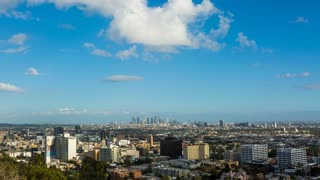 Hollywood and Los Angeles With a Tiny Cloud Day Timelapse