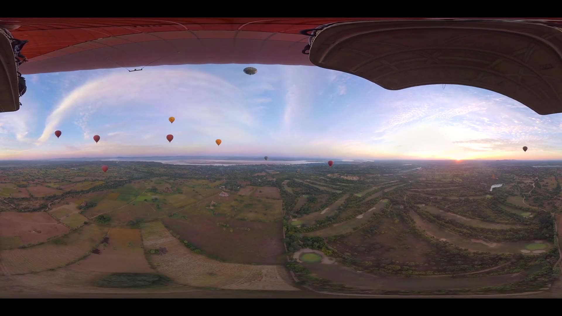 Hot Air Balloons Over Bagan 360 VR