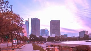 Hyperlapse of downtown city of Los Angeles
