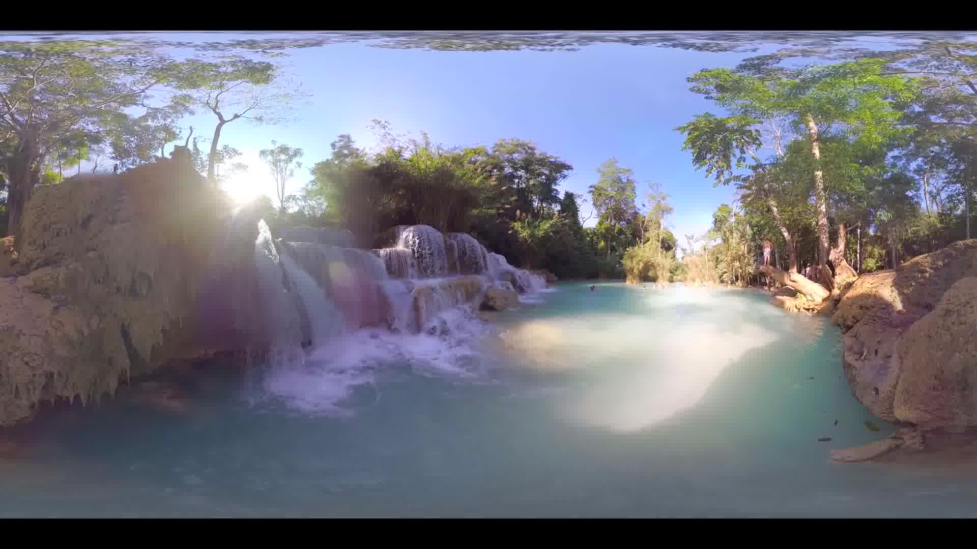 Kuang Si Falls - Waterfall 360 VR - Multi-shot