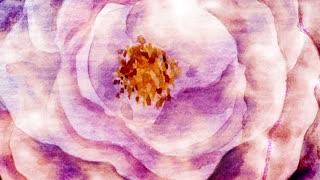 Large Watercolor Flower