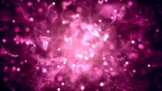 Loopable Background with beautiful pink abstract particles. 4k