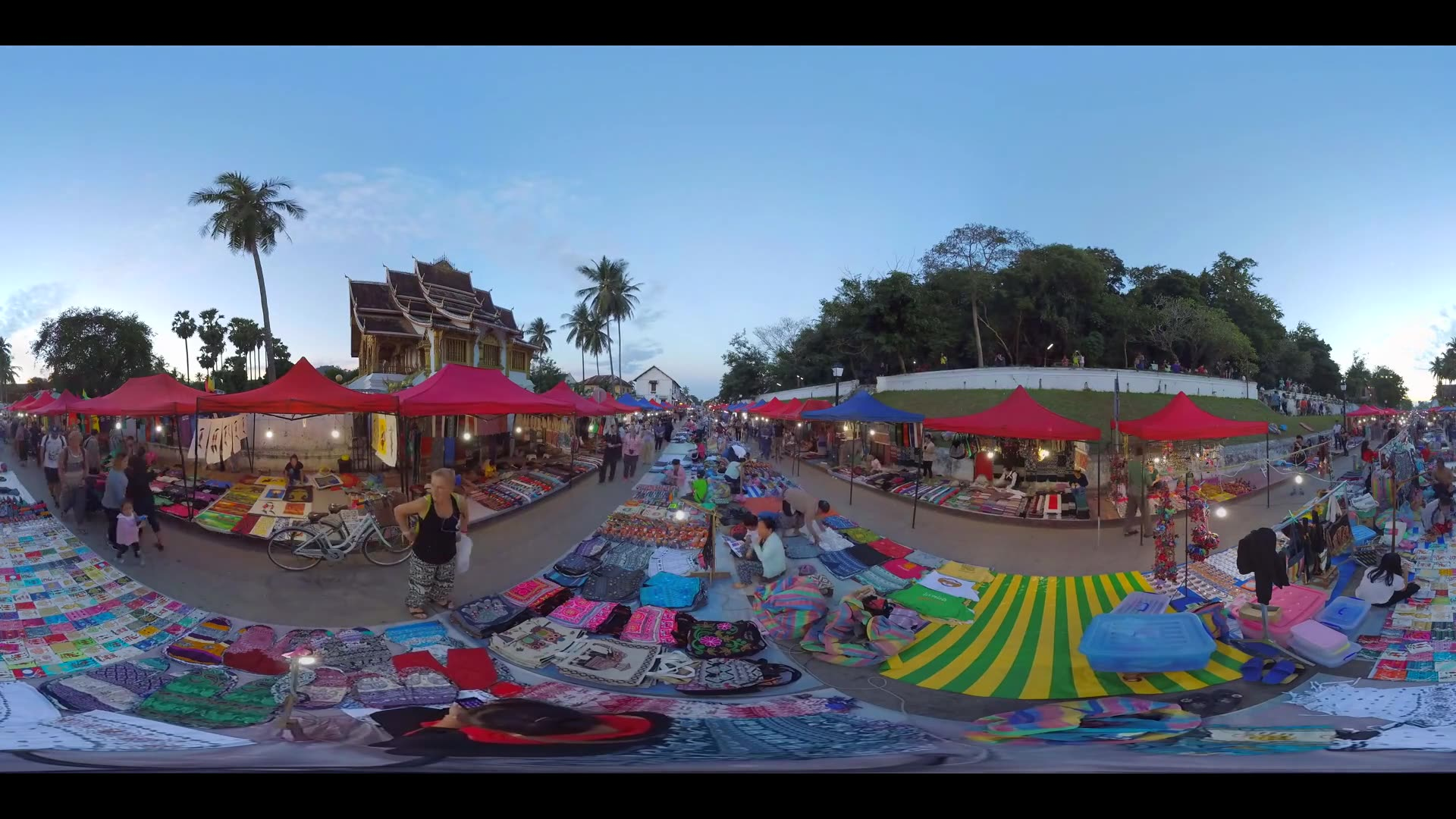 Luang Prabang Night Market 360 VR Timelapse