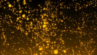 Luxurious gold sparkling particles wave background. Seamless loop