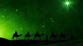 Magi Caravan Christmas Motion Background
