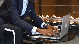 Man Working Laptop From Coworking