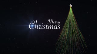 Merry Christmas Abstract Tree Title Background
