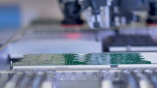 Microchip Circuit Board Manufacturing on modern industrial equipment.