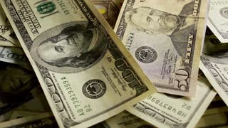 Money background from dollars usa, financial concept