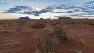 Monument Valley Utah Desert Time Lapse Sunrise