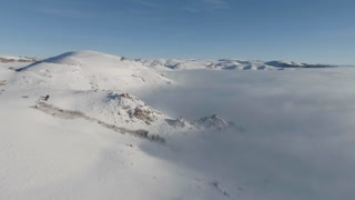 Mountains Fog Aerial