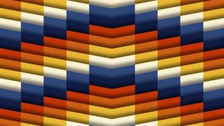 Multi Colored Chevron Tile Background Loop