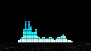 Music pulse with audio meters moving. Motion graphics background.