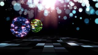 Music Video Background Disco Ball