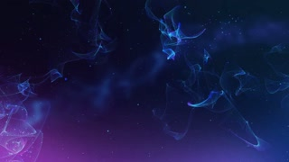Nebula floating through deep space galaxy 3D Movement - HD Motion background (version 2)