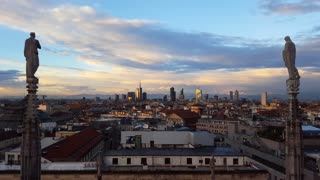 panoramic view of Milan skyline
