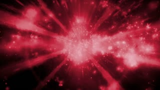 Particle abstraction in red and black looping CG animated background