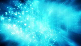 Particles energy and light looping science fiction abstract CG background
