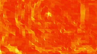 Polygonal mosaic background with vertex, spikes in cartoon modern 3D design. Abstract transforming orange low poly surface as cybernetic field in stylish low poly design. Orange low poly.
