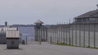 Prison On The Water In Kingston Ontario Walls And Barbed Wire With Towers