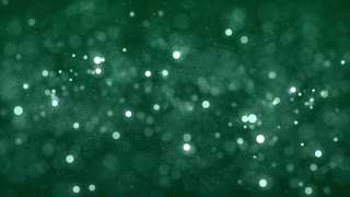 Animated dots moving on green background