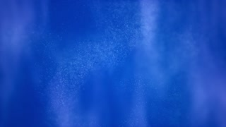 Floating blue particles on abstract black background
