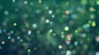 Animated dots moving on green tinted abstract background
