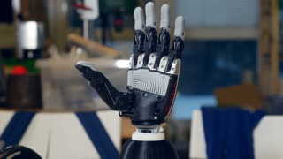 Real robotic arm. Innovation concept