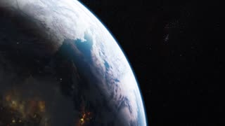 Realistic beautiful planet Earth from deep space