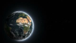 Realistic planet Earth from deep space