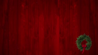 Red Christmas Wood Backdrop And Wreath