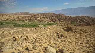 Rock formations of Alabama Hills in California