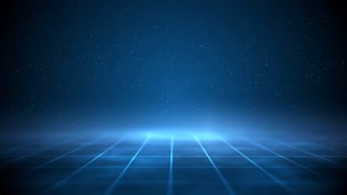 Science fiction blue checkerboard motion background loop