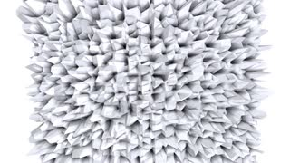 Simple low poly 3D surface as crystal mesh. Soft geometric low poly background of pure white grey polygons. 4K Full hd seamless loop background with copy space