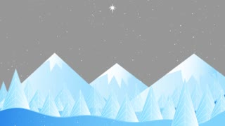 Snowy Mountains Winter Holidays Background0 Hd