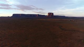 Sunrise Drone Flight in Monument Valley Utah Desert Aerial