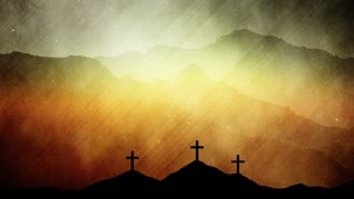 Three Crosses Easter Worship Background