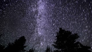 Time Lapse Astro Star Trails Milky Way