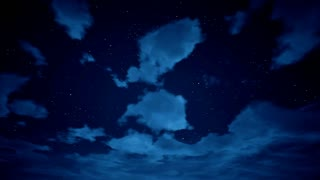 Time lapse of cloudscape with stars