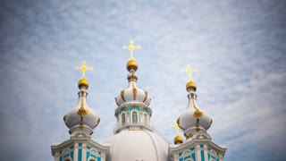 Time Lapse of Smolny Cathedral