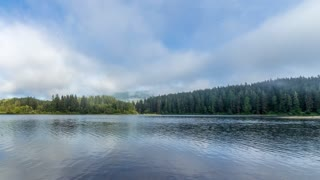 Timelapse Fog Lake National Parks Canada BC