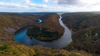 Timelapse River Forest Saarschleife