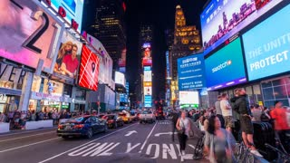 Times Square New York City Night Timelapse