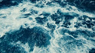 water surface, seascape of wild water and ocean waves, seamless loopable video