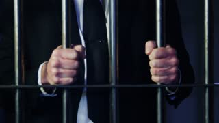 White Collar Crime Shaking The Bars Close Up