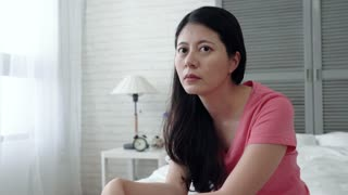Asian woman experiencing depression, stress, anxiety