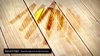 Wooden Logo Reveal Animation After Effects Template